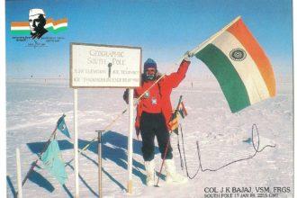 Col J K Bajaj at the south Pole