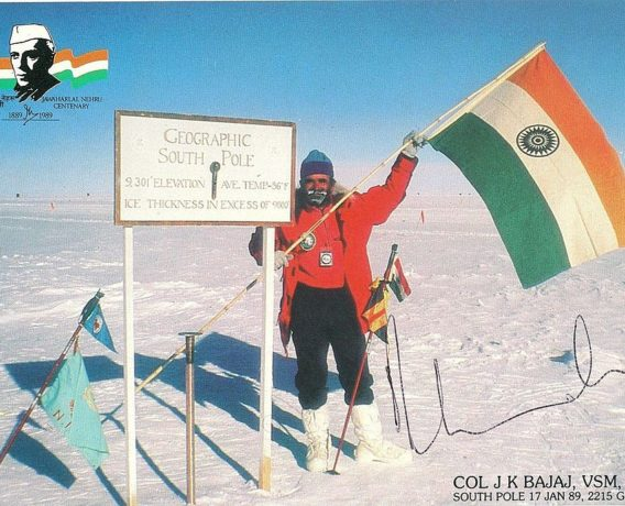 Col J K Bajaj at the south Pole